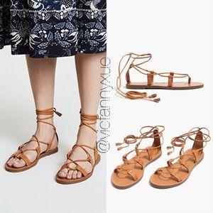 fa69e38f0dfa Madewell lace up sandals 6.5